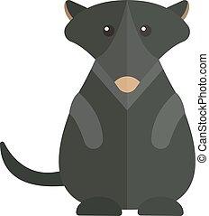 Cute Australia groundhog funny cartoon character of marmot flat vector illustration.