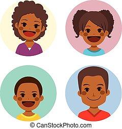 cute, avatar, família