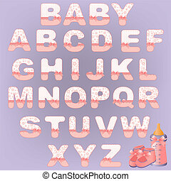 Cute baby alphabet