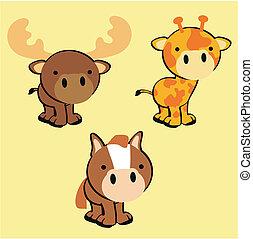 cute baby animals set 2