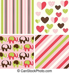 Cute Baby Background Seamless Pattern