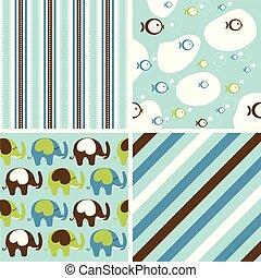 Cute Baby Background Seamless Pattern