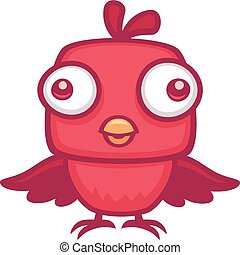 Cute Baby Bird - Vector cartoon illustration of a cute baby...