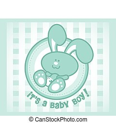 Cute baby bunny cartoon - male or boy version.