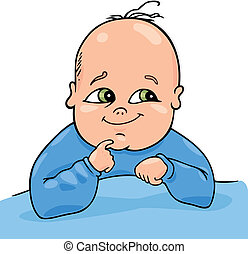 Cute baby - Cartoon illustration of cute baby