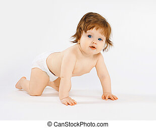 Cute baby creeps, child development