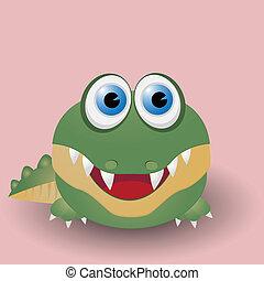 Cute baby crocodile