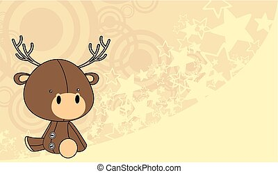 cute baby deer cartoon background