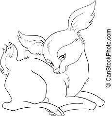 Cute baby deer coloring page
