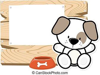 cute baby dog frame