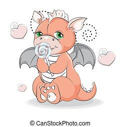 baby dragon girl