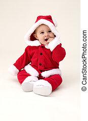Cute Baby Dressed up as Santa