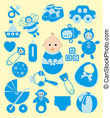 cute baby elements. vector