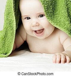 Cute baby, face closeup