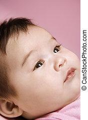 Cute baby face.