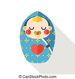 cute baby flat icon