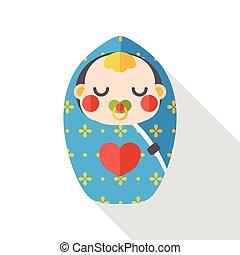 cute baby flat icon