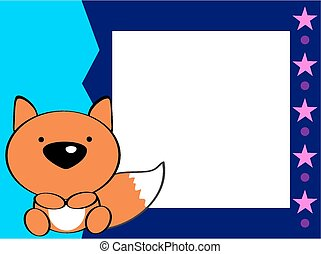 Cute fox collection stock vector. Illustration of element ...  |Vector Cute Baby Fox