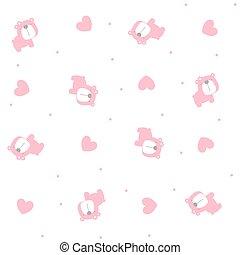 baby girl bear seamless