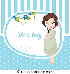 Cute baby girl card.
