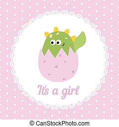 Cute baby girl card