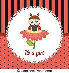 Cute baby girl card.