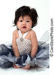 Cute baby girl in dress