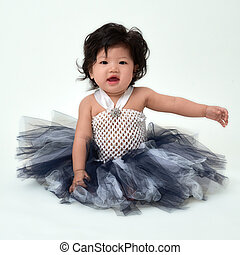 Cute baby girl in dress