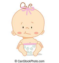 Cute baby ,  illustration