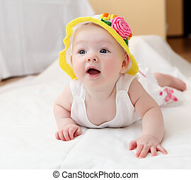 cute baby in hat