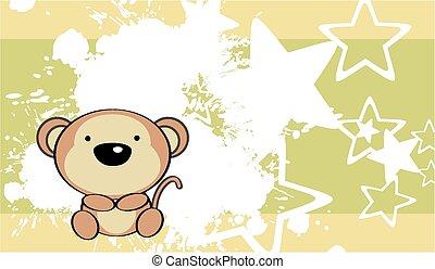 cute baby monkey background