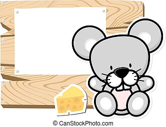 cute baby mouse frame
