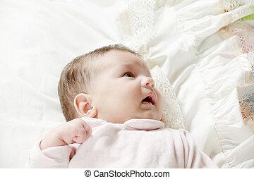 Cute baby on blanket