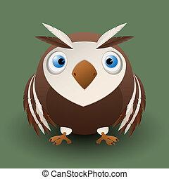 Cute baby owl