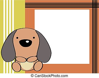 cute baby puppie picture frame