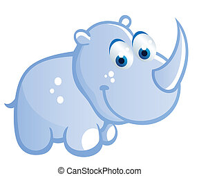 baby rhino cartoon