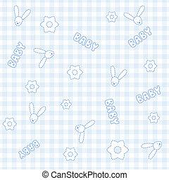Cute baby seamless pattern