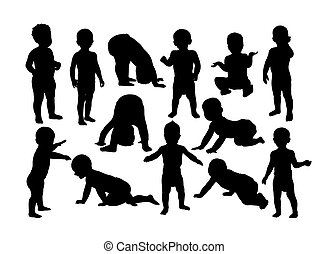 Cute Baby Silhouettes
