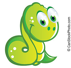 baby snake cartoon