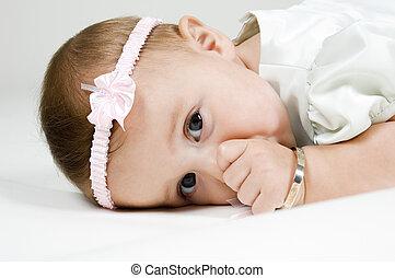 Cute Baby Sucking Thumb