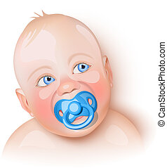 Cute baby with pacifier