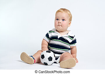 Cute Baby with soccer ball