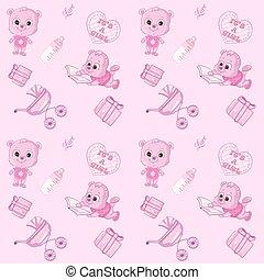 Cute baby's seamless pattern