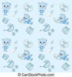 Cute baby's seamless pattern