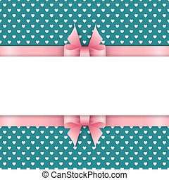 Cute background with pink ribbon