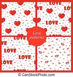 Cute backgrounds with love & hearts