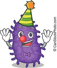 cute, bactérias, caricatura, personagem, palhaço, desenho, bacilli, conceito