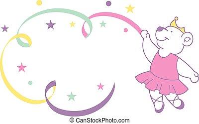 Cute ballerina bear