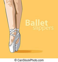 Cute ballet slippers
