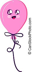 Cute balloon, illustration, vector on white background.